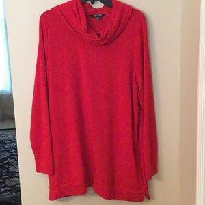 Ralph Lauren Shirt 1X Plus Res Cowl Neck L/S Tunic